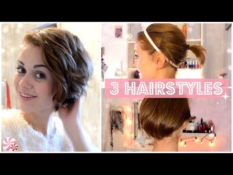 From SHORT to LONG: 3 easy HAIRSTYLES [ENGLISH]