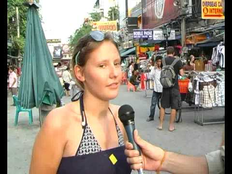 Bangkok British Tourist Interview on April 21,2009