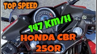 ... TOP SPEED | HONDA CBR 250R | 147 Kmph | NATIONAL HIGHWAY PANVEL | DREAM  ON