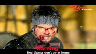 Mr. Nokia - Mr. Nokia Movie - Manchu Manoj's Real Stunts - Fire Blast into the Face