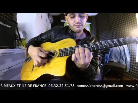 Cours de guitare jazz manouche phrases en La mineur