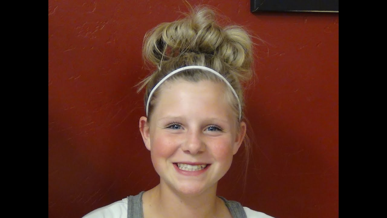 How To Style A High Messy Bun For Girl Athletes Hairstyle