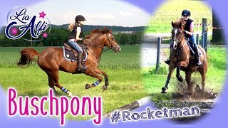 Lia & Alfi - Buschpony Rocky - Geländetraining cross country