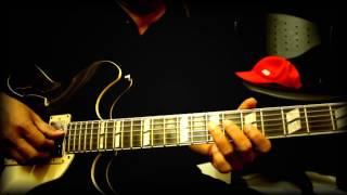 demo improvisasi gitar blues this masquarade in Am