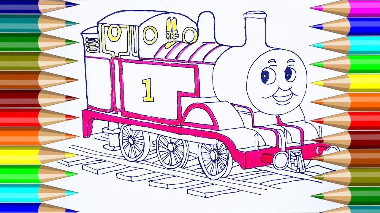 Dibujos para colorear Thomas & Friends | Cómo dibujar Thomas ...