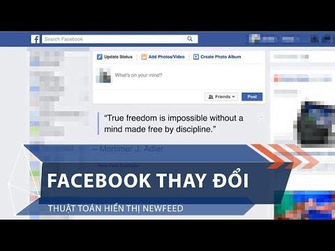 Facebook thay đổi thuật toán hiển thị newfeed   VTC1