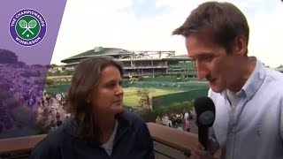 Garbiñe Muguruza's coach Conchita Martinez on her run to the Wimbledon 2017 final