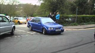 MK4 Ford Escort RS Turbo leaving Box Hill