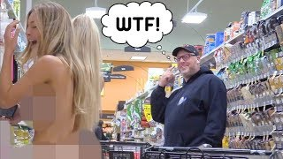 HOT GIRLS WALK Around IN PUBLIC NAKED!!