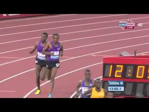 Mo Farah Win's Men's 5000m IAAF Diamond League Lausanne 2015