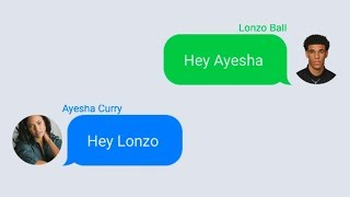 Lonzo Ball Texting Ayesha Curry (Stephen Curry's Wife)