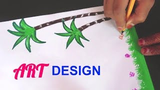 Drawing | Border designs on paper | border designs | project work designs | borders for projects