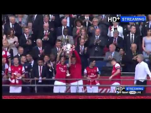 arsenal vs hull fa cup final post match interviews and presentation