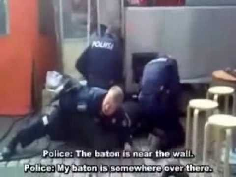 Police fight angry man Music Videos