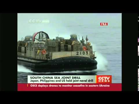 Japan, Philippines and US hold South China joint drill