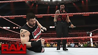 WWE RAW 9/12/16 - Roman Reigns vs Kevin Owens Clash of Champions Qualification 2K16 Match