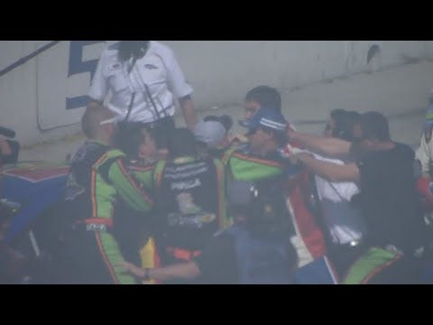 Stewart and Logano fight at Auto Club!!