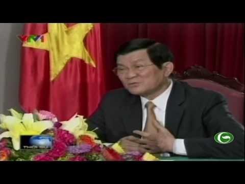 Chủ tịch nước Trương Tấn Sang trả lời phỏng vấn đài truyền hình Việt Nam