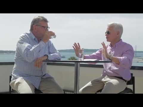 Chairman of Cannes Lions, Terry Savage speaks with JWT s Bob Jeffrey