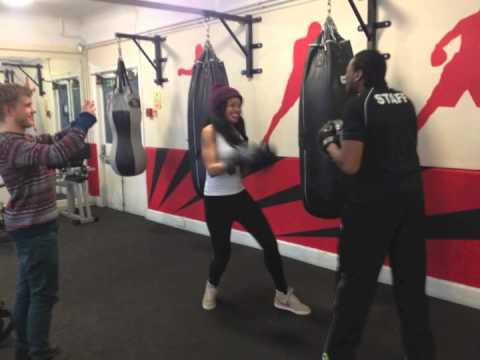 Radio 1Xtra DJ Sarah Jane at The Boxing Academy for Comic Relief Red Nose Day 2013