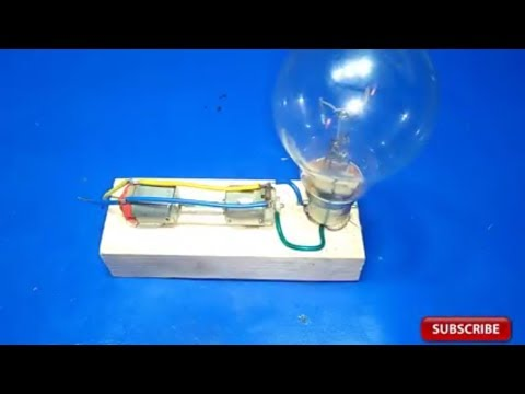How To Make Free Energy Generator 220v From 12v Motor With Light Bulb Homemade Free Electricity