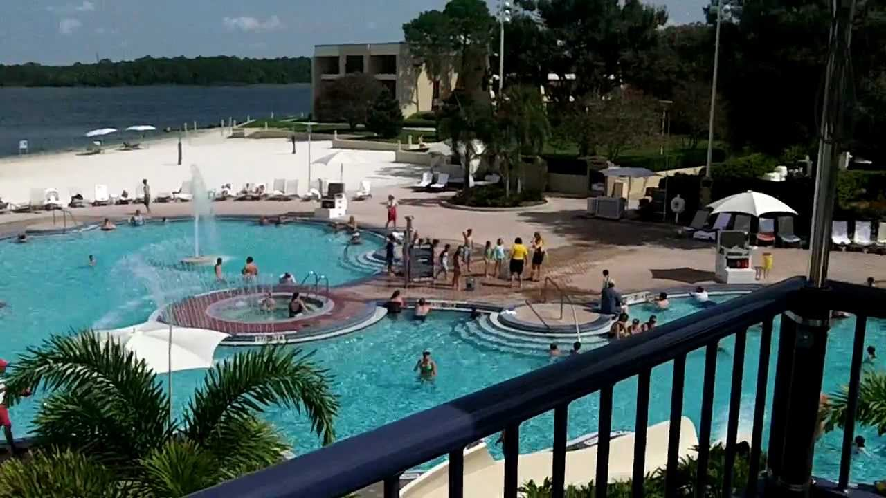 Disney 39 s contemporary resort pool and slide youtube for Pool show orlando