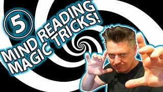 TOP 5 MIND READING Magic Trick Tutorials! (I'm going to read your mind!)