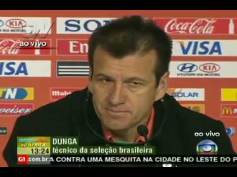 Netherlands Vs Brazil (2-1) Brazilian Coach Dunga interview 2.07.10 Spain España