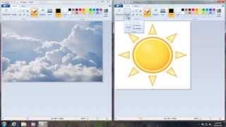 How To Put One Image On Top Of Another Image in Microsoft Paint