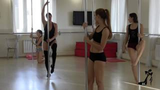 Exotic pole dance мастер класс Анны Хольс www.anna-holce.ru
