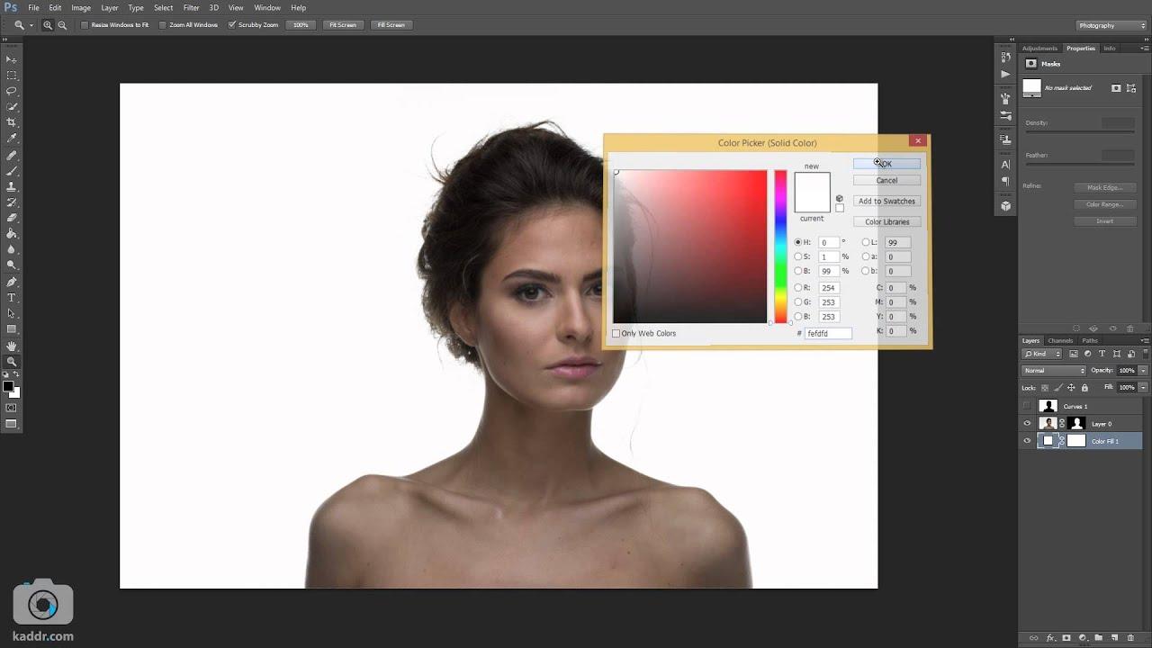 Как редактировать фон в фотошопе