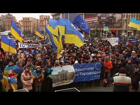 Protesters in Kiev send message to Ukraine president at Vilnius summit