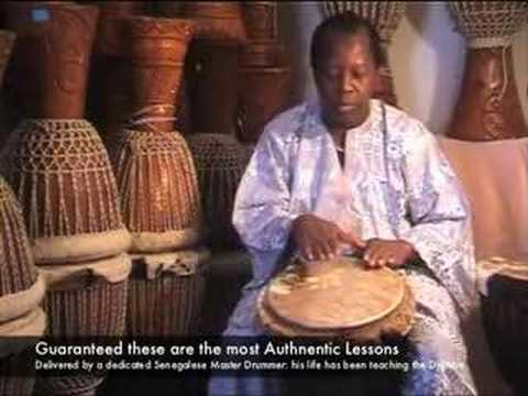 Djembe Drum Lessons with Master Drummer: Lamin Jassey Music Videos