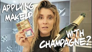 APPLYING MAKEUP WITH A CHAMPAGNE BOTTLE // Grace Helbig