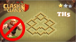 TH5 War Base| New 2017 Hybrid TH5 War Base| Anti-3 star
