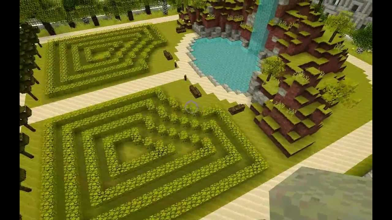 Beautiful Gardens In Minecraft YouTube