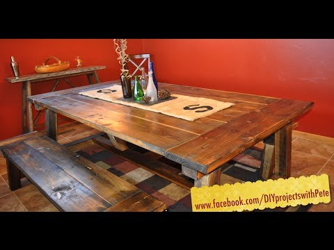 How To Build A Farmhouse Table - The Most Complete Video Online - Episode 7 video