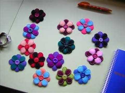 ...Flores de fieltro...