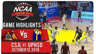NCAA 94 MB: UPHSD vs CSJL | Game Highlights | October 12, 2018