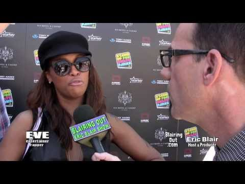 Eve & Eric Blair talk Make Up, Miley Cyrus & The New Gstring Trend @ Tony Hawk Foundation 2013