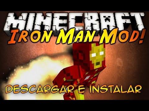 Minecraft 1.7.2/1.7.10 ~ Como Descargar e Instalar Iron man MOD - TUTORIAL ESPAÑOL