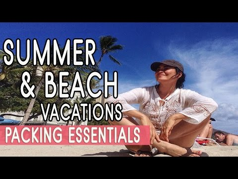 SUMMER TRAVEL ESSENTIALS FOR PACKING LIGHT