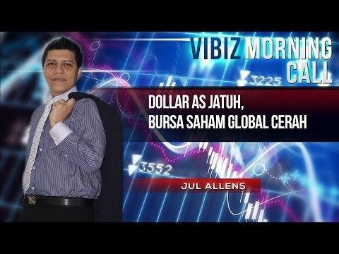Dollar AS Jatuh, Bursa Saham Global Cerah, Vibiznews 17 Maret 2015