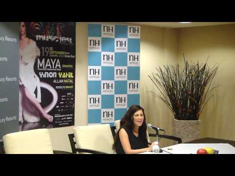 Maya Simantov singing two days before G Music Fest in Mexico City