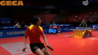 Incredible Around Net rally by Xu Xin at WTTC 2018 - Table Tennis