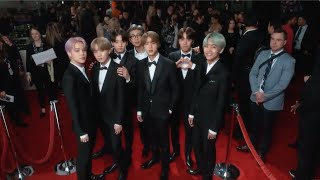 BTS - 2019 Grammy Awards - Red Carpet Compilation