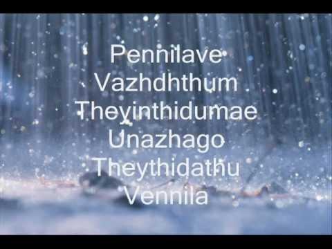 Manasellam Mazhaiye - Saguni *with Lyrics* video