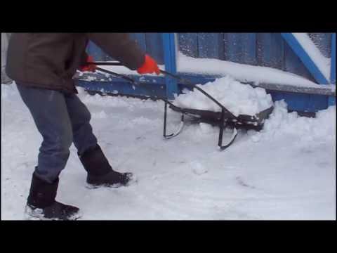 Как сделать сани для снега