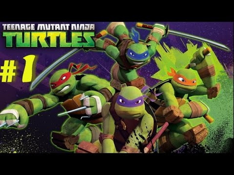 Nickelodeon Teenage Mutant Ninja Turtles (Wii) Part 1 Roof