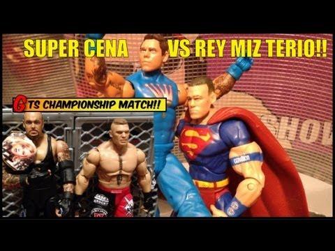 GTS WRESTLING: Championship Match Taker vs Brock WWE Raw parody figure matches animation stop motion